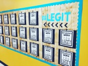 Student Work Wall Outside